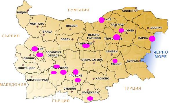 Карта на събитията на Брандеа през 2014 г.